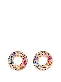 radley-rose-gold-tone-sterling-silver-rainbow-crystal-set-circle-ladies-stud-earrings