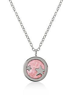 radley-radley-sterling-silver-star-and-pink-enamel-pendant-ladies-necklace