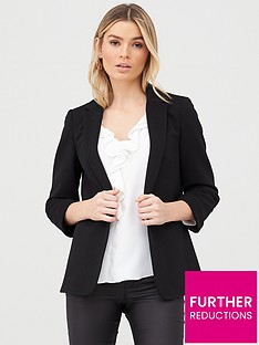 wallis-ribbed-turn-back-cuff-jacket-black