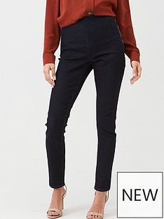 wallis-demi-side-zip-trousers-indigo