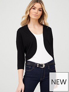 wallis-curve-hem-shrug-black