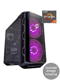Zoostorm Stormforce Crystal 7290-5554 Ryzen R7-3700X 16GB RAM 1TB Hard Drive & 256GB SSD Gaming PC NVIDIA 4GB Dedicated Graphics GTX 2070 Super Black
