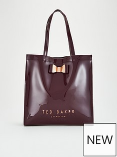 ted-baker-sofcon-bow-detail-large-icon-bag-deep-purple