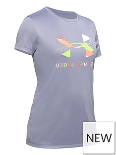 under-armour-girls-tech-graphic-big-logo-t-shirt-and-play-up-short-set-purple