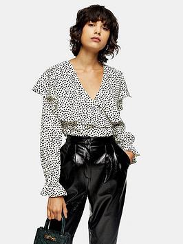 topshop-topshop-ruffle-heart-print-blouse-monochrome