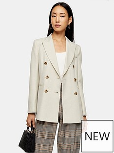 topshop-six-button-double-breasted-suit-blazer-ivory