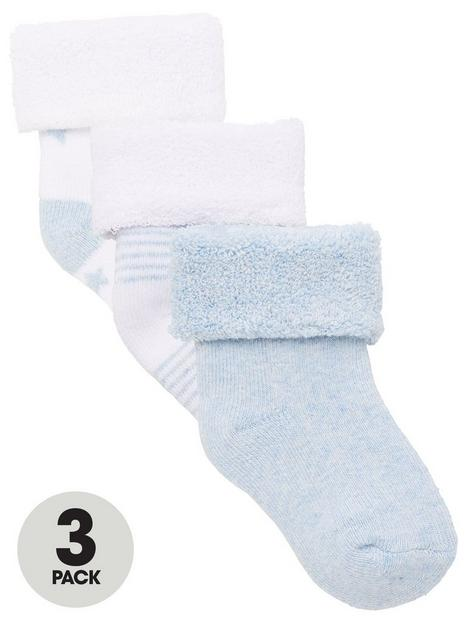 v-by-very-baby-boy-3-pack-little-star-terry-socks-blue