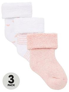 v-by-very-baby-girls-3-pack-little-heart-stripe-and-plain-terry-socks-pink