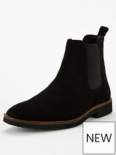 office-buster-suede-chelsea-boots-black