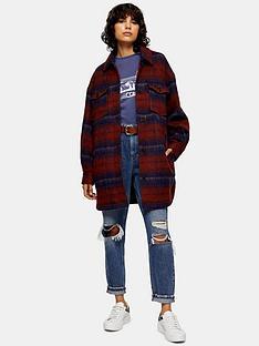 topshop-wool-jacketnbsp--red