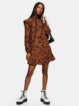 topshop-ruffle-yoke-mini-dress-multi