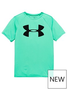 under-armour-childrensnbsptech-big-logo-t-shirt-and-prototype-wordmark-short-set-green-grey