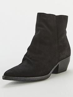 v-by-very-real-suede-ruched-ankle-boots-black