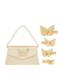 monsoon-girls-simone-butterfly-bag-amp-clip-set-gold