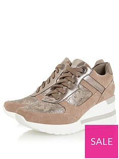 dune-london-elouera-trainer-taupe