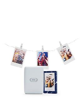 fujifilm-mini-link-printer-bundle-inc-led-lights-and-album--ash-white