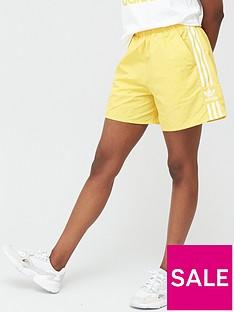 adidas-originals-3-stripe-short-yellow