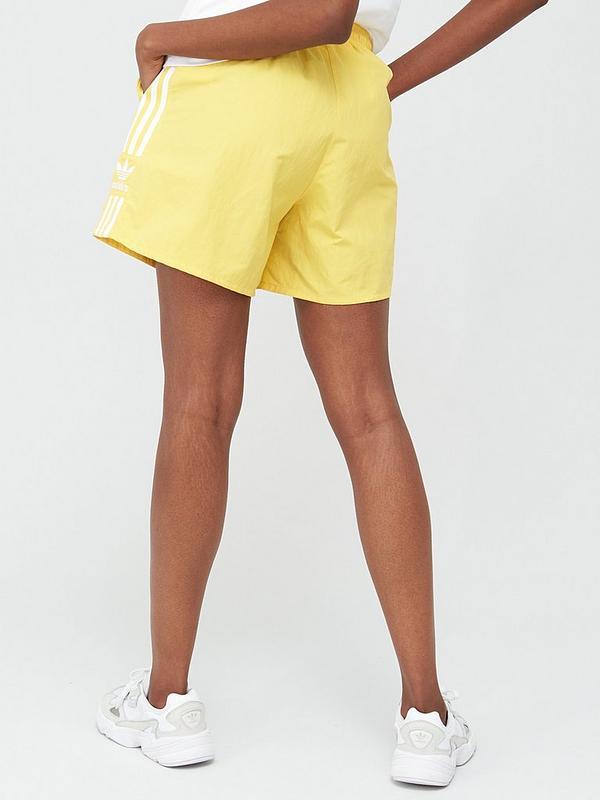 adidas Originals 3 Stripe Short - Yellow | very.co.uk