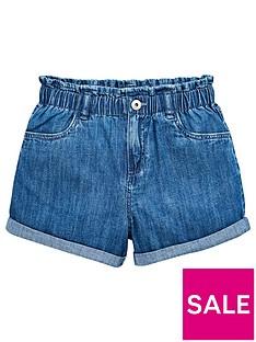 v-by-very-girls-paperbag-waist-denim-shorts-blue