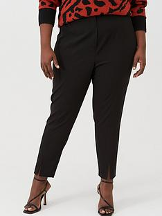 v-by-very-curve-split-hem-trouser-black