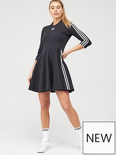 adidas-3-stripe-skater-dress-blacknbsp