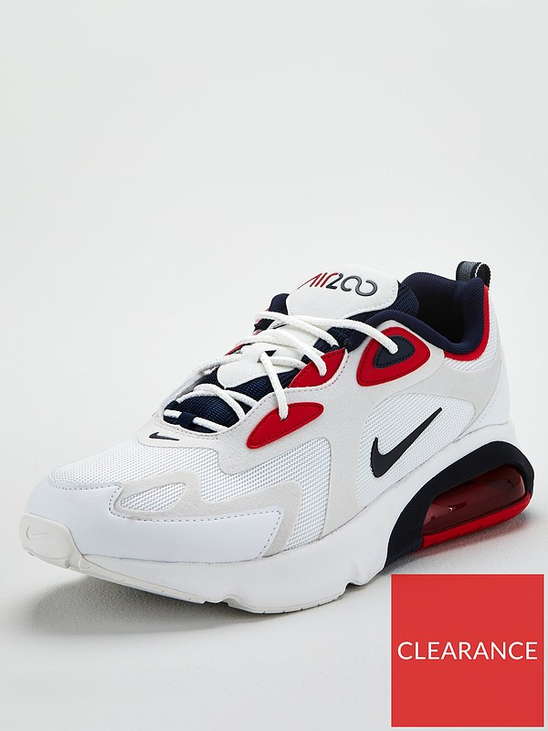 Cerveza Despedida Golpeteo  Nike Air Max 200 - White/Navy | very.co.uk