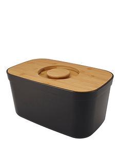 joseph-joseph-black-bread-bin-with-bamboo-lid