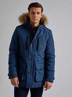 burton-menswear-london-oak-hooded-parka-blue