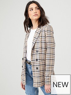 v-by-very-checked-double-breasted-blazer-multi