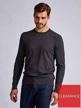 burton-menswear-london-crew-neck-jumper-grey
