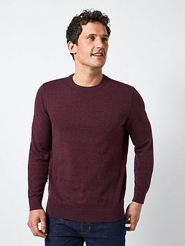 burton-menswear-london-crew-neck-jumper-burgundynbsp