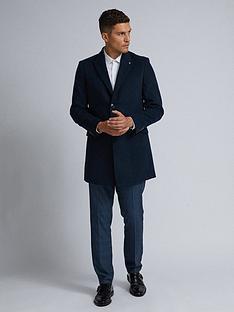 burton-menswear-london-faux-wool-coat-navy