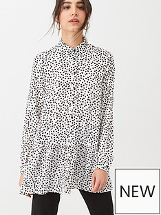 wallis-dalmation-print-tiered-shirt-mono
