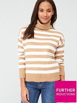 v-by-very-camel-roll-neck-jumper-stripe