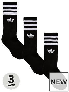 adidas-originals-3-pack-kids-trefoil-linear-socks-black