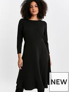 evans-black-frill-hem-dress