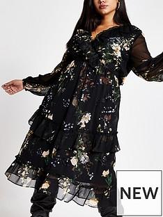 ri-plus-ri-plus-embellished-midi-smock-dress-black