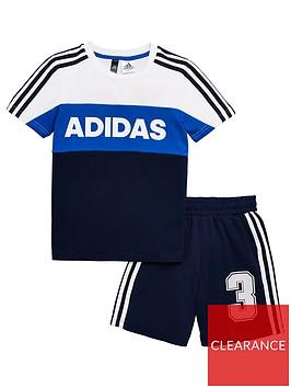 adidas-short-sleeve-tracksuit-white