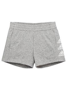 adidas-junior-girls-must-havesnbspshorts-medium-grey-heather