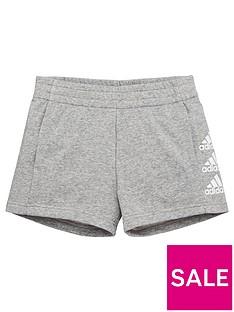 adidas-junior-girls-must-havesnbspshorts-medium-grey-heather