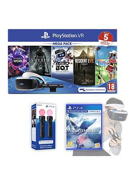 playstation-playstation-vr-mega-pack-v2-with-ace-combat-7-skies-unknown-and-optional-controllers