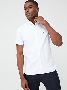 tommy-hilfiger-slim-fit-organic-cottonnbspoxford-short-sleeve-shirt-white