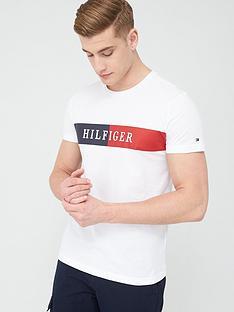 tommy-hilfiger-block-stripe-hilfiger-t-shirt-white