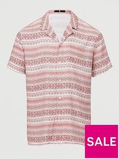 very-man-short-sleeved-pattern-stripe-aop-revere-shirt-burgundywhite