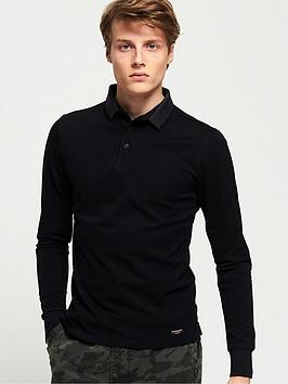 superdry-edit-long-sleeved-polo-shirt-black