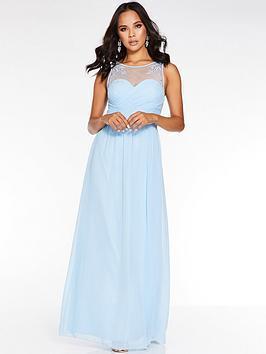 quiz-chiffon-high-neck-embellished-bridesmaid-maxi-dress-blue