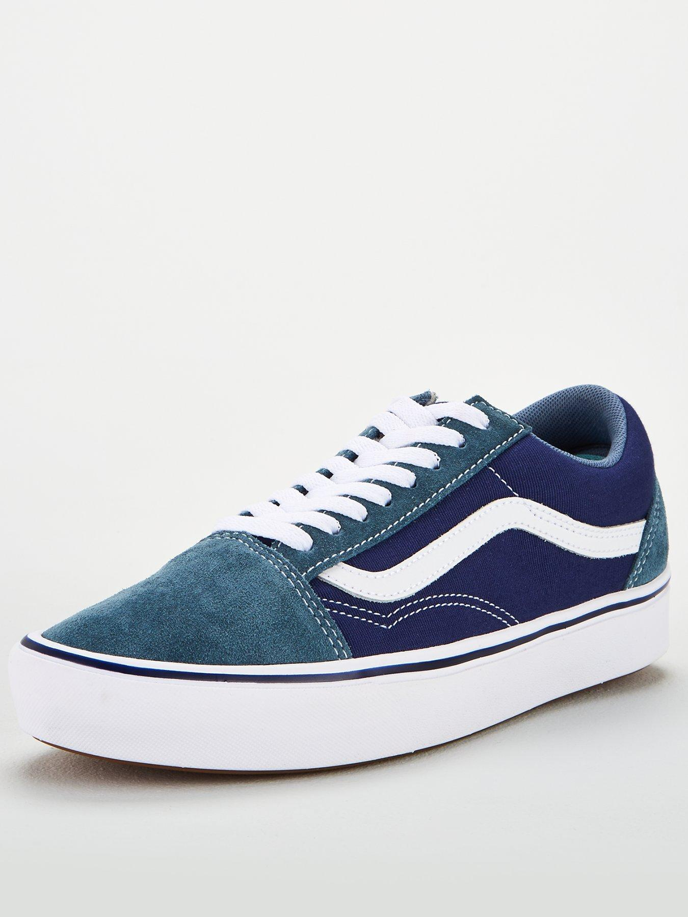 Vans OLD SKOOL CANVAS SKATE Shoes Size Men's 7.5 $65 DRESS BLUES KHAKI