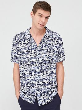 v-by-very-short-sleeved-tonal-beach-print-shirt-whitenavy