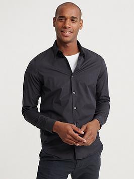 superdry-edit-button-down-shirt-dark-grey