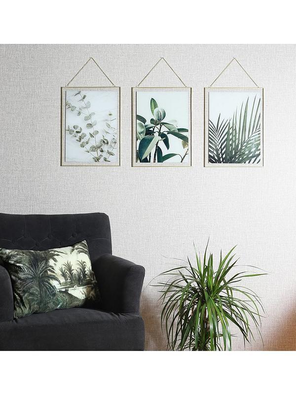 Arthouse Set 3 Botanical Framed Prints Very Co Uk